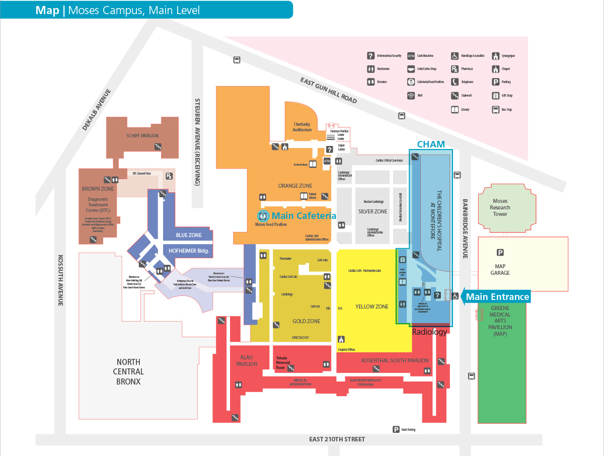 Campus Map The Children S Hospital At Montefiore