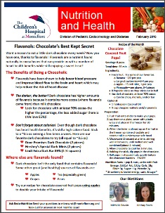 Past Health Nutrition Newsletters The Children S Hospital At Montefiore