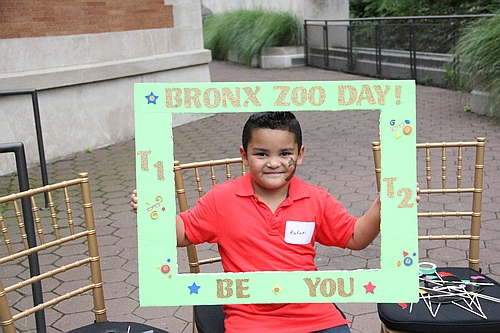 Framed child at Bronx Zoo Diabetes day